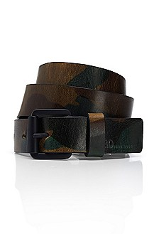 'Giltary' | Leather Camo Belt