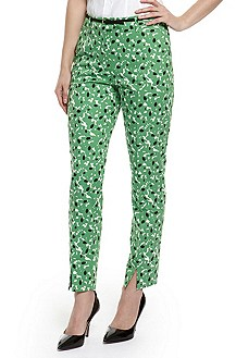 'Testelina' | Stretch Cotton Printed Pants