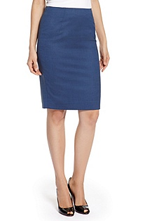 'Vilina' | Wool-Blend Stretch Pencil Skirt
