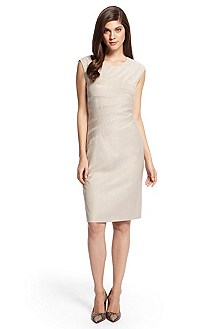 'Dicaila' | Stretch Wool-Blend Sheath Dress