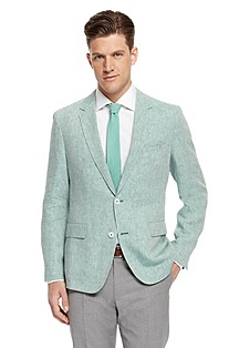 'Miles' | Slim Fit, Linen Sport Coat