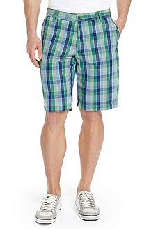 'Hitch-W' | Cotton Check Shorts