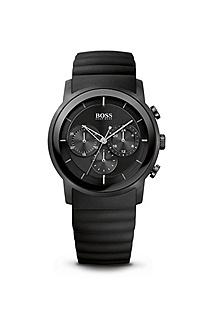 '1512639' | Black Silicon Strap Chronograph Watch