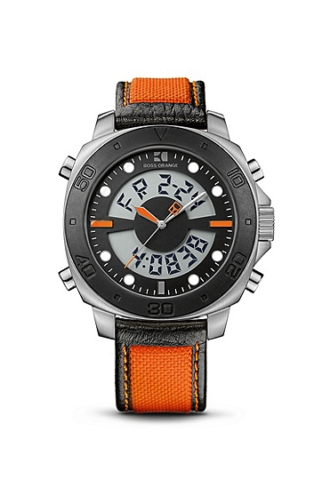 '1512679' | Orange Silicon Strap Analog-Digital Watch, Assorted Pre-Pack