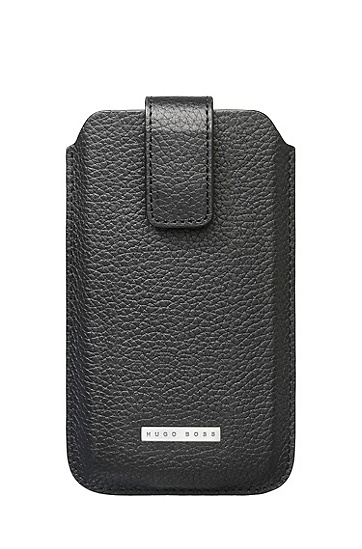 'Barcelona Universal' | Leather Cell Phone Case, Black
