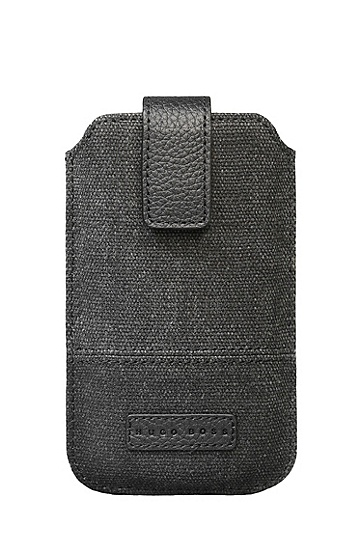 'Scout Universal' | Canvas Cell Phone Case, Black