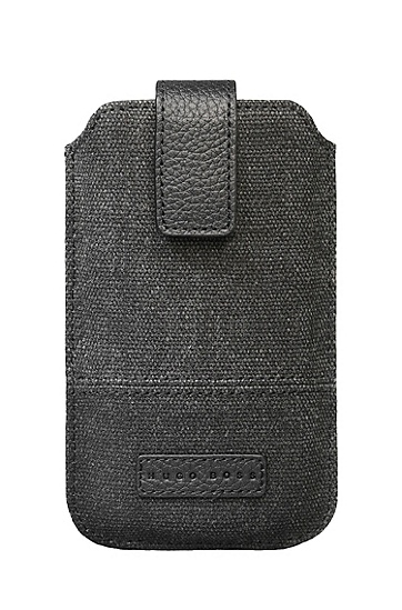 'Scout Universal L –120 x 78 mm' | Canvas Cell Phone Case, Black