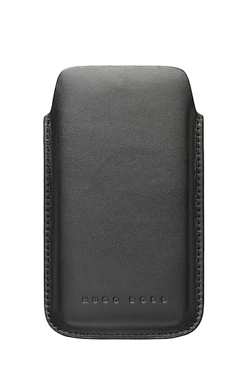 'Berlin Universal M - 122 x 73 mm' | Leather Cell Phone Case, Black
