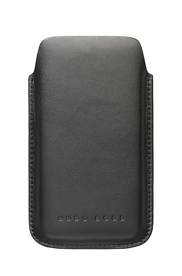'Berlin Universal' | Leather Cell Phone Case, Black
