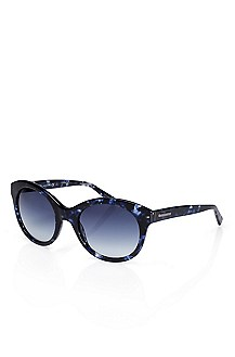 'Sunglass' | Blue Plastic Frame Sunglasses