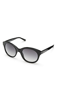 'Sunglass' | Black Plastic Frame Sunglasses