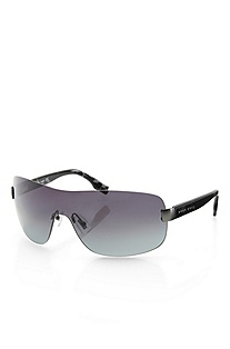 'Sunglass' | Gunmetal Shield Sunglasses