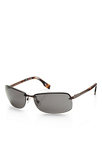 'Sunglass' | Brown Metal Frame Sunglasses