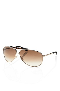 'Sunglass' | Gold Metal and Tortoiseshell  Aviator Sunglasses