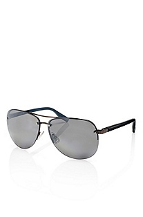 'Sunglass' | Gunmetal Aviator Sunglasses