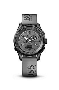 '1512800' | Grey Silicon Strap Watch
