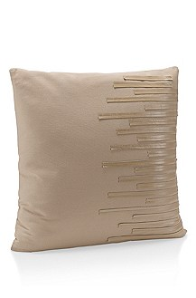 'Cotton and Leather Decorative Pillow