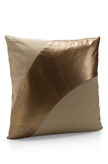 'Metallic Leather Decorative Pillow