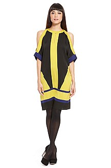 HUGO Colorblock Open Shoulder Dress