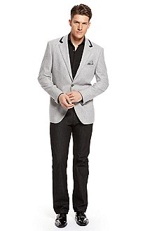 BOSS Selection Velvet Trim Lapel Sport Coat