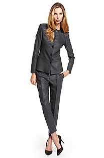 BOSS Metallic-Threaded Pant suit