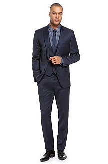 Hugo Slim Fit Virgin Wool Suit