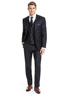 BOSS Selection Pinstripe Three-Piece Suit