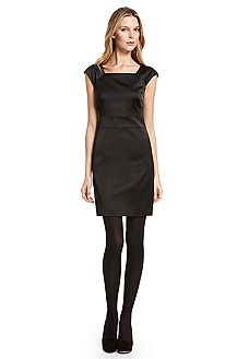 Hugo Paneled Little Black Dress
