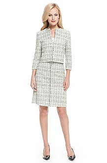 BOSS Tweed Contrast-Trim Skirt Suit