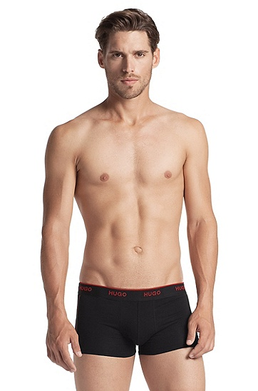 Boxer shorts with logo waistband 'Boxer SC HM', Black