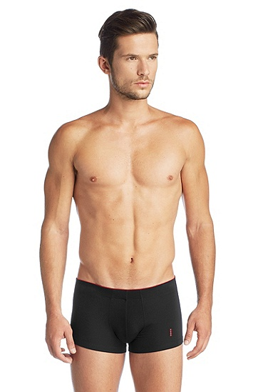 Stretch cotton boxer shorts 'BOXER SC HM', Black