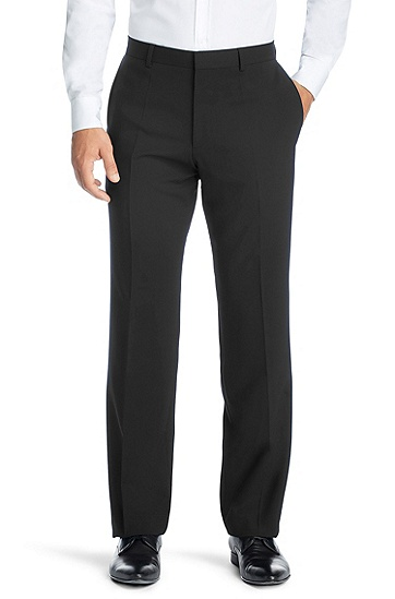 Smart new wool suit trousers 'Hago', Black