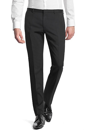 High-quality new wool suit trousers 'Heise', Black
