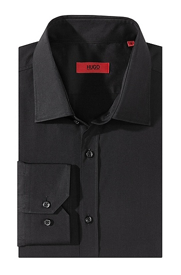 Cotton dress shirt 'Eifel', Black