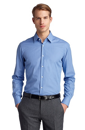 Business shirt with a Kent collar 'Enzo', Blue