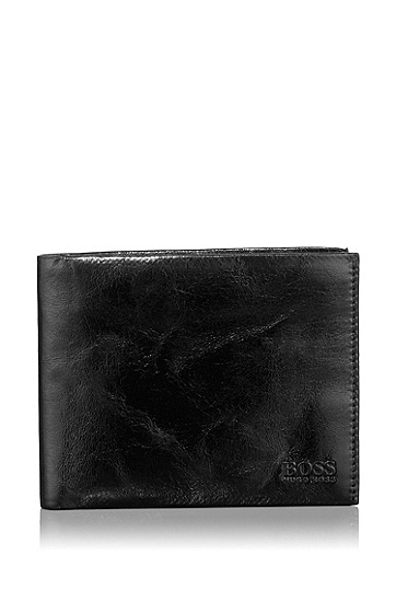 Kangaroo leather wallet 'Asolo', Black