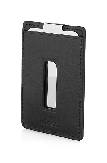 Money clip in metal from BOSS 'PEDASO', Black