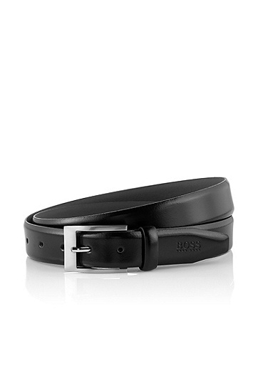 Leather business belt 'Adam', Black
