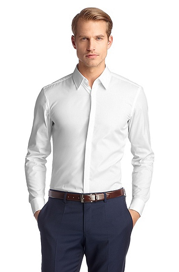 Shirt with a Kent collar 'ILIAS', White