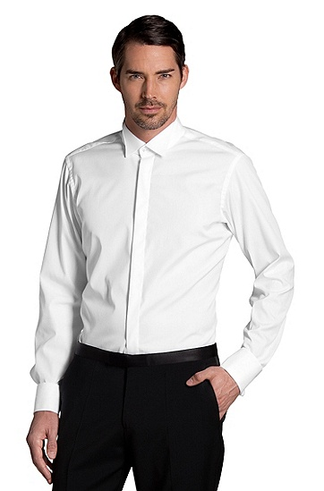 Cotton business shirt 'EWEN', White