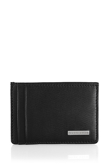 Leather card holder 'Luber', Black