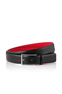 Leather designer belt 'GAVRILO'
