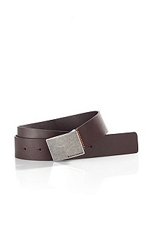 Belt with plaque buckle 'JARRETT-N'