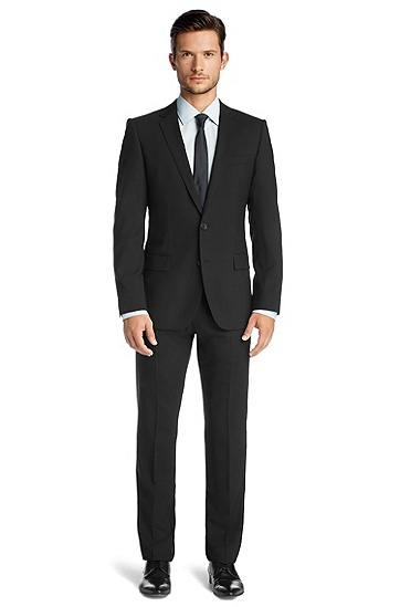 Suit in blended shorn wool 'Amaro/Heise', Black