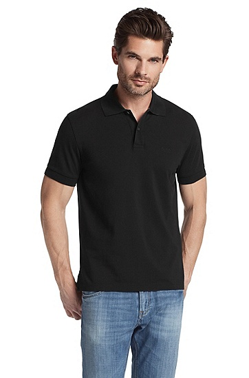 Regular-Fit Polo ´Firenze/Logo Modern Essential`, Schwarz