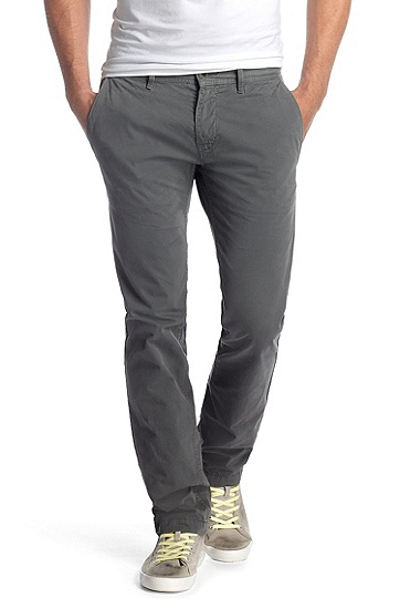 Pantalon de coupe Slim Fit, Schino-Slim-D, Gris sombre