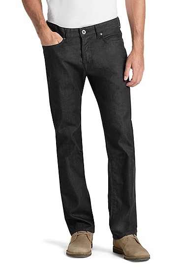 Regular-Fit Jeans ´Orange25` aus Black Denim, Schwarz