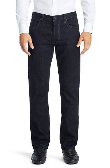 Regular fit jeans in cotton blend 'Hugo 677/8', Dark Blue