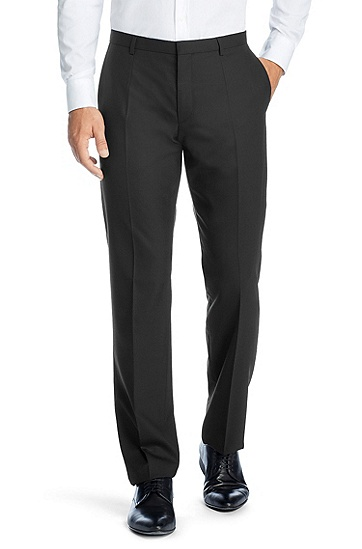 Fashionable new wool business trousers ´Heise`, Black