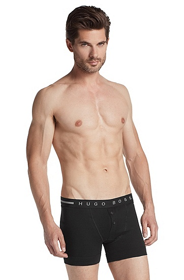 Boxer shorts with logo waistband 'Boxer BF BM', Black